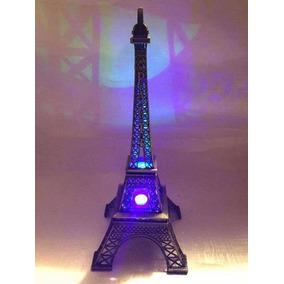 Torre Eiffel Metal C/luz Led 32.5 Cm Envio Gratis