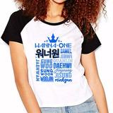 Camiseta Wanna One Integrantes Raglan Babylook