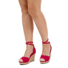 735b8845a7 Sandalia Anabela Lara Preto - Sapatos Vermelho no Mercado Livre Brasil