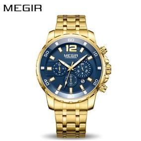Relógio Masculino Megir Dourado Mod 2068 - Ultima Unidade