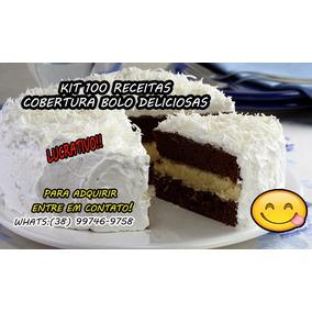 Kit 100 Receitas Cobertura Bolo Deliciosas