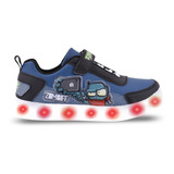 Zapatillas Luces Led Usb Zombies Footy 769 770 Mundo Manias