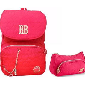 Kit Mochila Rebecca Bonbon Cupcake Rb8174 Notebook Rosa
