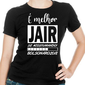 Baby Look Feminina Bolsonaro Jair - Preto 3c45f9fb617