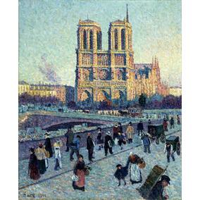 Lienzo Tela Canvas San Michel Y Notre Dame Maximilien Luce