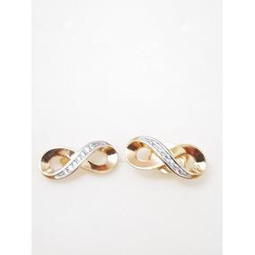 13ade2c317ed Aretes De Infinito Para Oido Oro Sin Piedras - Joyería en Mercado ...
