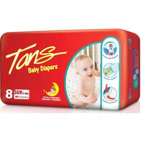 Pañales Para Bebés Tans (importado) Talla 5-12kg Paq X 8