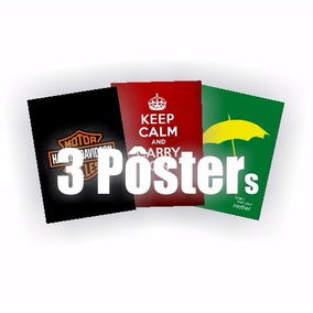 3 Pôster Promoção (você Escolhe) Placa Rígida A3 C/fixador