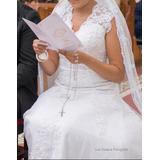 Vestido De Noiva Tam. 36/38 * Terço Grátis*
