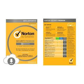 Norton Security Premium 2019 1 Ano 10 Pc .. Leia!