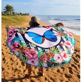Canga Redona, Saída De Praia, Luxo, Moda Praia, Borboleta
