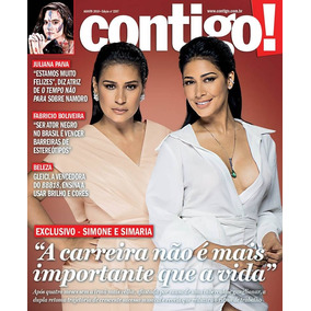 Revista Contigo 2207 Simone & Simaria Xuxa Madonna Luiza Mel