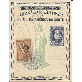 Centenário Do Selo 1947 Folhinha Autorizada Fa-6