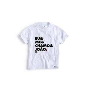 Camiseta Mini Eu Me Chamo João Reserva Mini