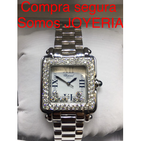 Chopard Happy Diamonds Mediano De Dama Acero Con Diamantes