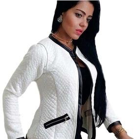 Jaqueta Jacquard Casaco Blazer Matelassê Blusa Feminina Frio