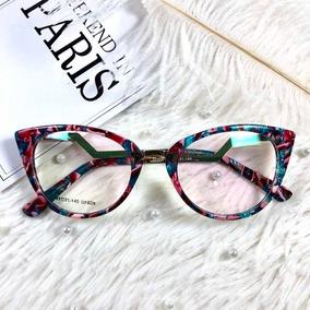 8b5832ff70f3f Oculos De Grau Gatinho Chanel - Óculos Terracota no Mercado Livre Brasil