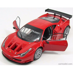 Ferrari 458 Italia Gt2 Red Hotwheels, 1:18, Rojo