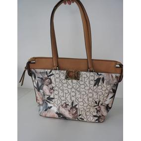 Bolsa Calvin Klein Floral Original Em Couro