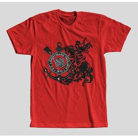 Camisa Vermelha Do Corinthians Feminina - Camisetas Manga Curta no ... 8ff43f98de70f