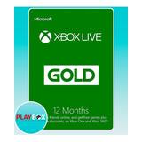 Xbox Live Gold Suscripción Membresía 12 Meses Multiregión