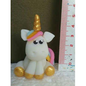 Unicornio En Porcelana Fria