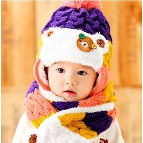 Gorro Para Bebé Con Bufanda Calientitos Babynova Z2