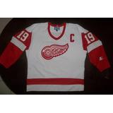 Camisa De Hockey Detroit Red Wings (ovechkin,crosby) Hoquei