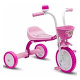 Triciclo Rosa Para Menina 3 Rodas Girl Nathor