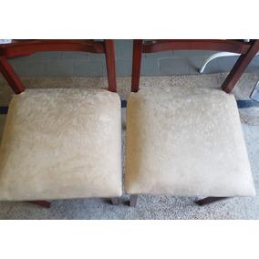 Mesa Com Tampo De Vidro + 6 Cadeiras Diferentes Usada