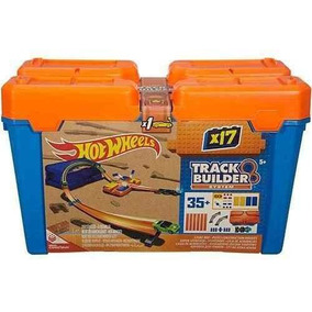 Pista Hot Wheels Track Builder Kit Completo Mattel