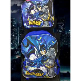 Mochila Con Lonchera Gratis Batman Original Remate!!
