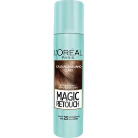 Retoque Raiz Spray Instantâneo Magic Retouch Castanho Claro