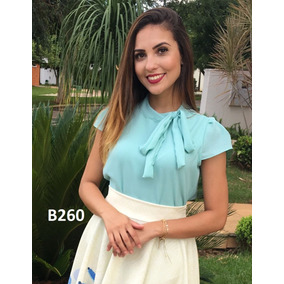 Blusa Feminina Blusinha Gravatinha - Tboutiqueoficial.com.br