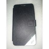 Capa Celular-flip Cover-zenfone 5-couro-preta- L. 646 -
