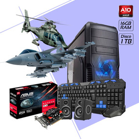 Cpu Gamer A10 Ram 16gb Disco 1tb Video Ddr5 2gb Gabinete Kit