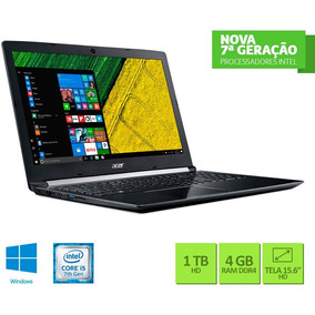 Notebook Acer 15.6 A515-51-55qd I5-7200u 4gb 1tb W10