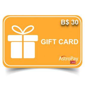 Cartao Astropay Gift Card 30brl.