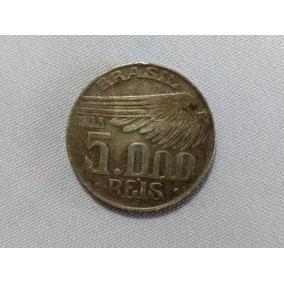 Moeda 5000 Réis 1938- Homenagem Santos Dumont (rara)