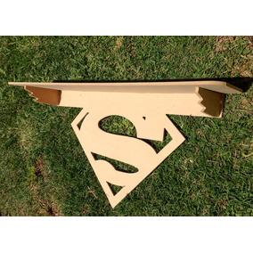 Repisa Superman En Fibrofácil 60 X 30 Cm
