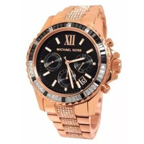 1c1f8cb494b Relogio Michael Kors Feminino Rose Preto Mk5875 - Relógios De Pulso ...