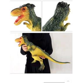 Dinossauro Tiranossauro Rex Grande 60cm Emite Som Verde