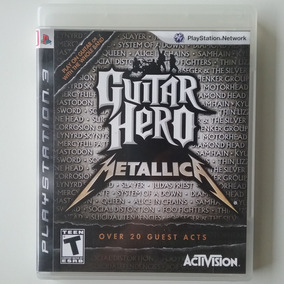 Guitar Hero Metallica Ps3 Mídia Física Original Ótimo