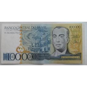 C176: Bela Cédula 100.000 Cruz. 1985 - S/fe