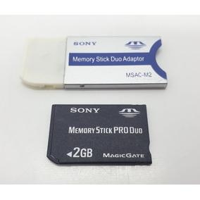 5 Cartões De Memória 2gb Pró Duo Sony + Adaptador Grátis