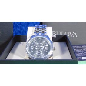 Relógio Bulova - Masculino - Cravejado Com 8 Diamantes