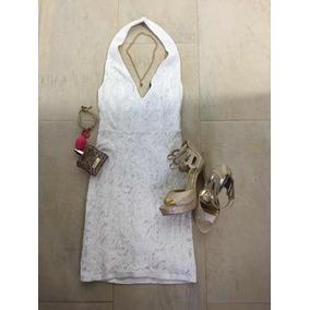 Vestido Blanco Encaje Torchon Blonda 15$