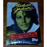 Sobre Figuritas Michael Jackson. Abierto. Chicle Y Figuritas