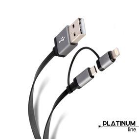 Cable 2 En 1 De 1,2 M, Usb A Micro Usb Y Lightning | Pod-408