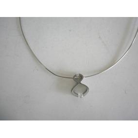 Collar Simbolo Infinito Acero Inox Con Diamantes De B.tiff